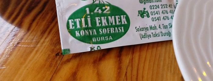 1.42 Etli Ekmek Konya Sofrası is one of Bursa.