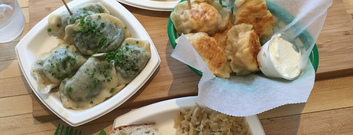 Baba's Pierogies is one of NYC // BKLYN Places to Eat.