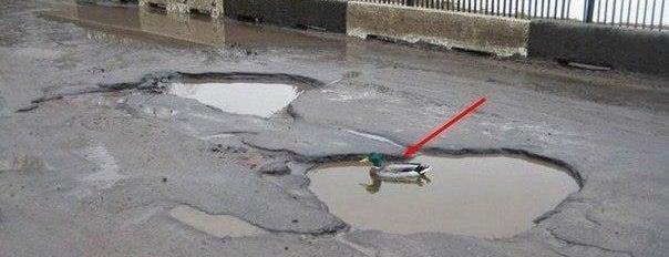 Укравтодор is one of Смешные подсказки Киева..