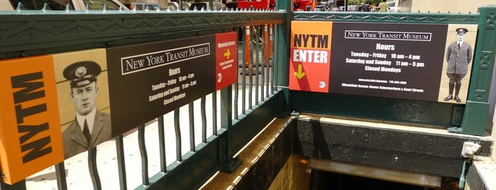 New York Transit Museum is one of Big Apple.