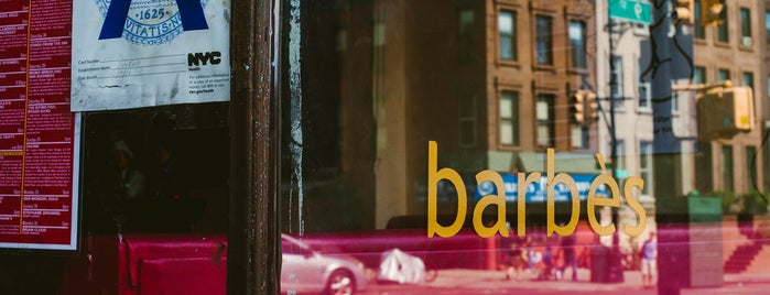 Barbès is one of The Park Slope List by Urban Compass.