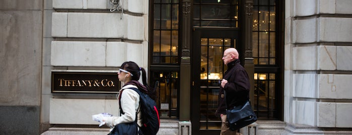 Tiffany & Co. is one of The Financial District List by Urban Compass.