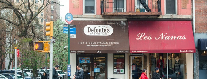 Defonte's of Brooklyn is one of The Murray Hill List by Urban Compass.