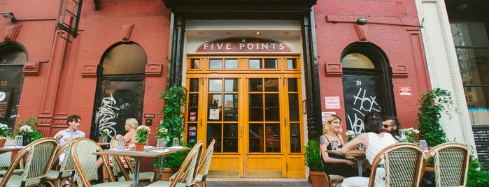 Five Points is one of The Noho List by Urban Compass.