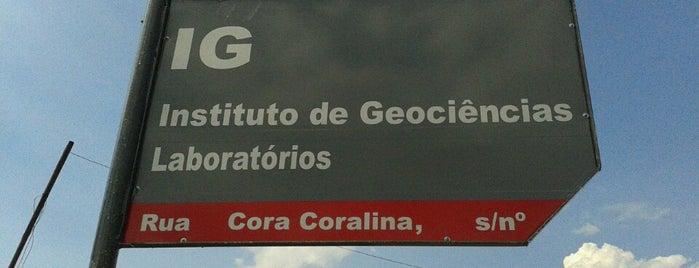 Instituto de Geociências (IG Novo) is one of Tempat yang Disukai Hugo.