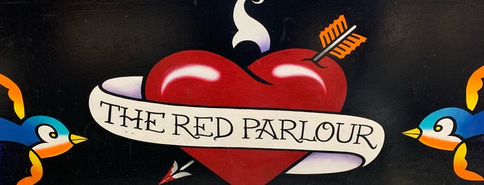 The Red Parlour Tattoo Shop is one of Tempat yang Disimpan Kate.