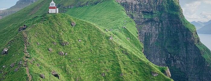 Kallur Lighthouse is one of Faroe Island.