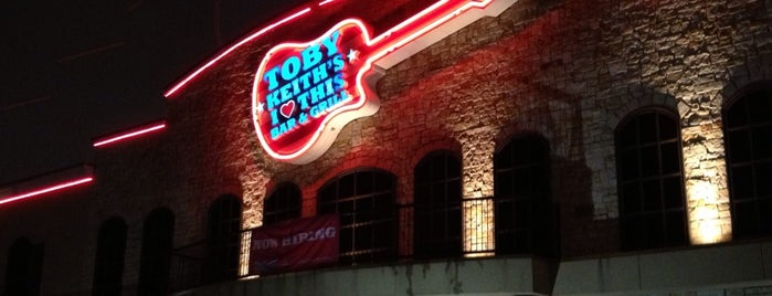 Toby Keith's I Love This Bar and Grill is one of Oklahoma City.