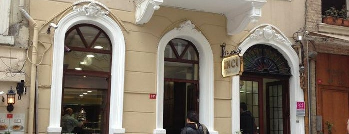 İnci Pastanesi is one of İstanbul'un Gezilmesi Görülmesi Gereken Yerleri.