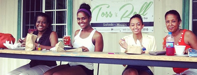 Toss and Roll Salad Bar is one of Kingston finds.