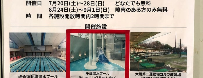 Chitose All-season Swimming Pool is one of 世田谷区のプール.