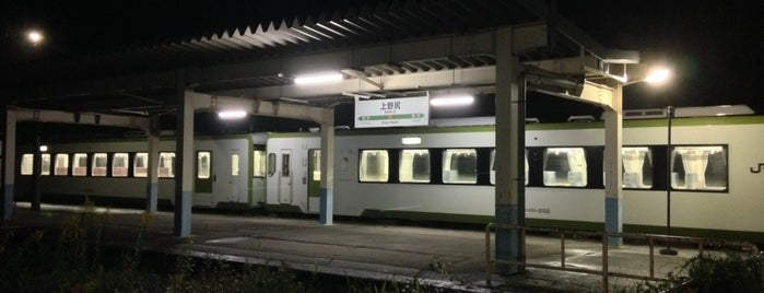 Kami-Nojiri Station is one of JR 미나미토호쿠지방역 (JR 南東北地方の駅).
