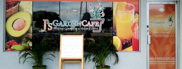J's Garden Cafe is one of Places w/ nice vegetarian food.