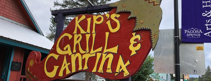 Kip's Grill and Cantina is one of Tempat yang Disukai Bryon.