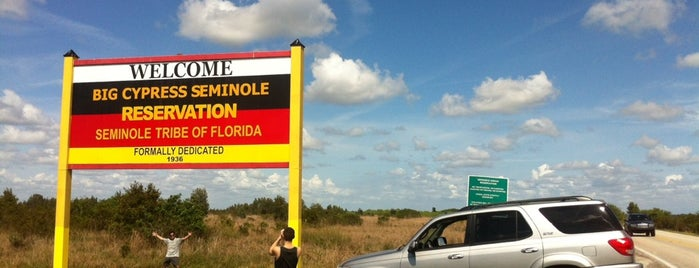 Seminole Indian Reservation - Big Cypress is one of Native American Cultures, Lands, & History.