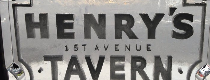 Henry's First Ave Tavern is one of Guys night out history.