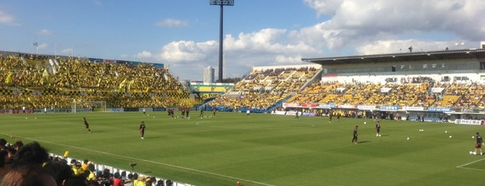 Sankyo Frontier Kashiwa Stadium is one of outsiders....