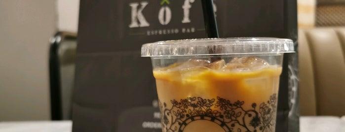Kôfē - Espresso Bar is one of Cafes in Kuwait.