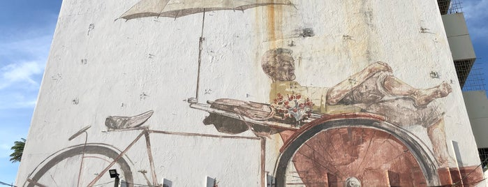 Mural - The Awaiting Trishaw Peddler is one of Penang.