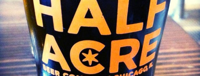 Half Acre Beer Company is one of Chicago.