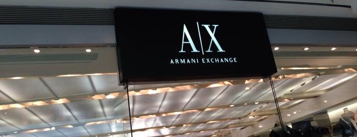Armani Exchange is one of Orte, die Kevin gefallen.