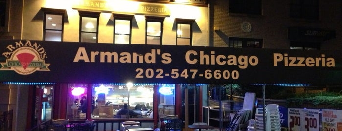 Armand's Chicago Pizza - Capitol Hill is one of Sunjay 님이 좋아한 장소.