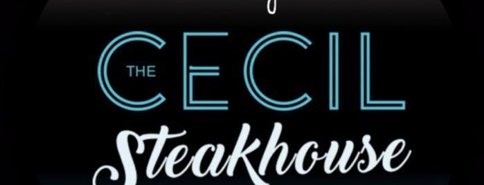The Cecil Steakhouse is one of สถานที่ที่ Uju ถูกใจ.
