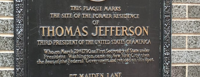 Former Home of Thomas Jefferson is one of Places to Explore.