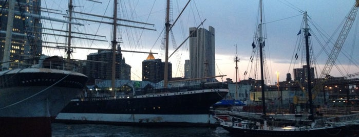 South Street Seaport is one of New York //.
