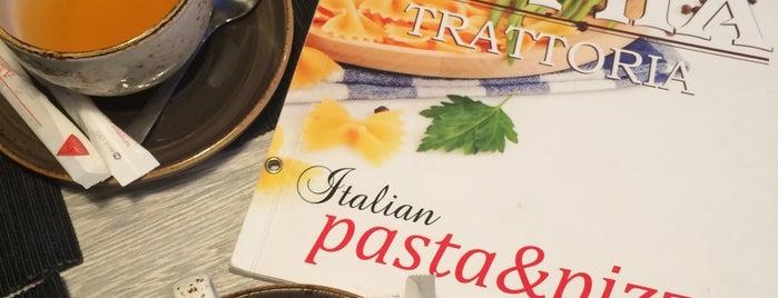 LAMIA Trattoria Bistro & Pizza is one of สถานที่ที่ Roman ถูกใจ.