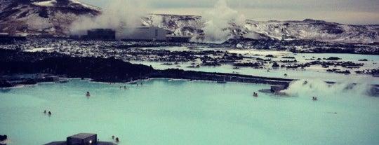 Bláa lónið (Blue Lagoon) is one of Iceland.