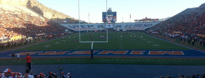 Sun Bowl Stadium is one of College Football Stadiums in Texas.