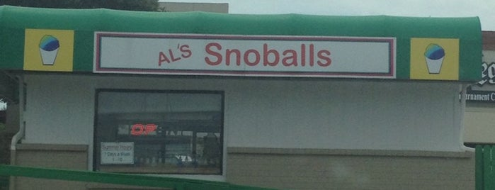 Al's Snowballs is one of Lugares favoritos de KATIE.