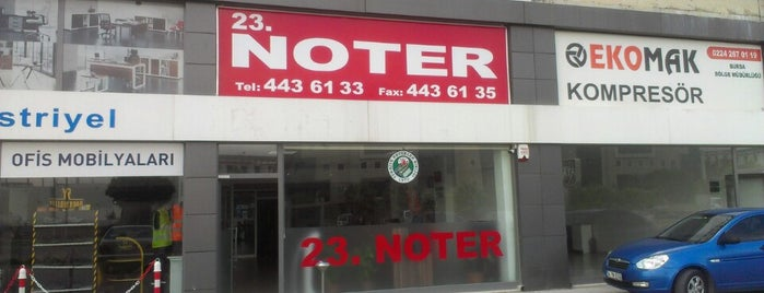Bursa 23. Noter is one of Tempat yang Disukai Erkan.