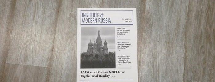 Institute of Modern Russia is one of Posti che sono piaciuti a Tango 🏃🏾♂️.