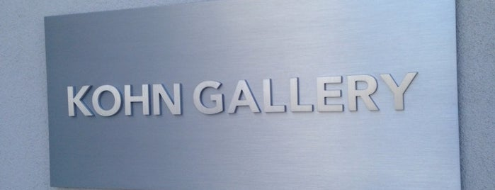 Kohn Gallery is one of LA.