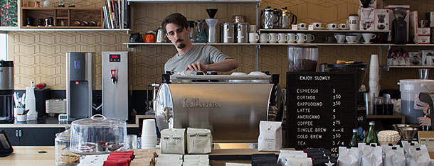 Cognoscenti Coffee Bar is one of Grub Street Coffee Shops.