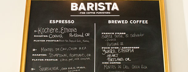 Barista is one of Grub Street Coffee Shops.