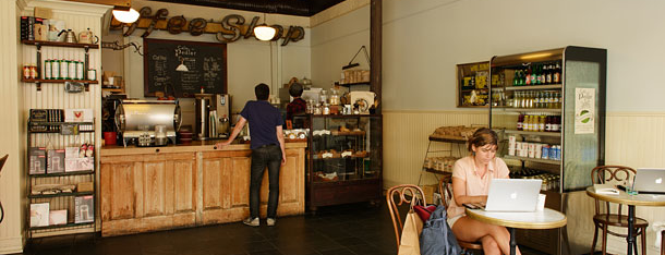 Cafe Pedlar is one of Grub Street Coffee Shops.