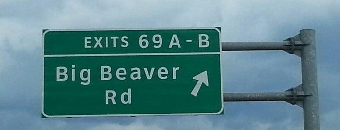 I-75 Exit 69, Big Beaver Road is one of Locais curtidos por David.