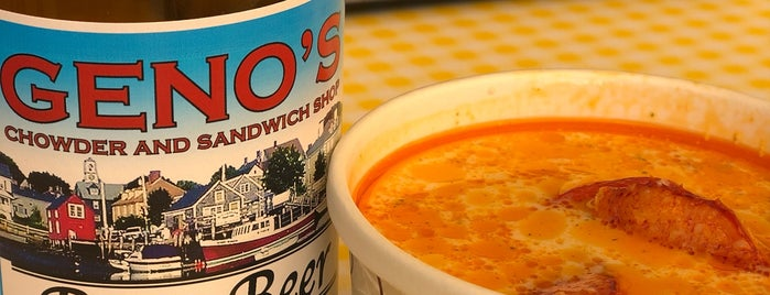 Geno's Chowder and Sandwich Shop is one of Everything.