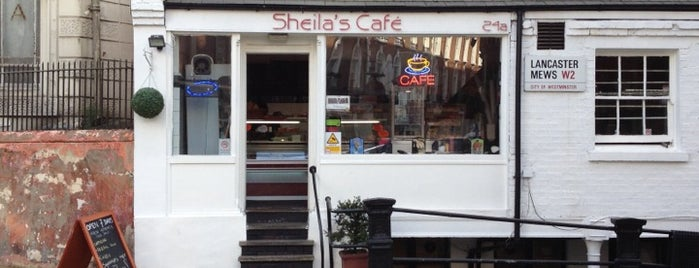 Sheila's cafe is one of London.