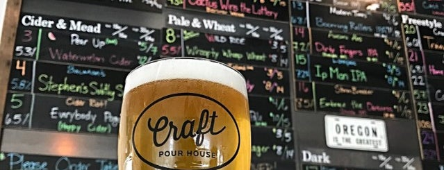 Craft Pour House is one of PDX Brewery Bar Crawl & Recovery.