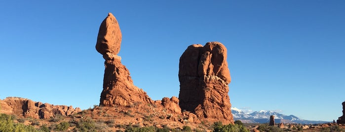 Balanced Rock is one of Arches Nat'l.