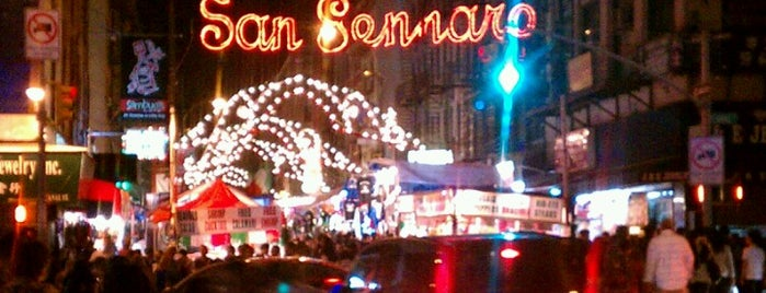 Feast of San Gennaro is one of NYC food.