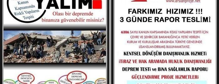 Arslan Proje Kentsel Dönüşüm is one of Lieux sauvegardés par 'Yalçın.