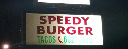 Speedy burger is one of Texas Monthly 50 Greatest Hamburgers in Texas.