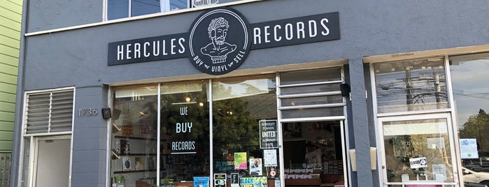 Hercules Records is one of Oakland record shops.