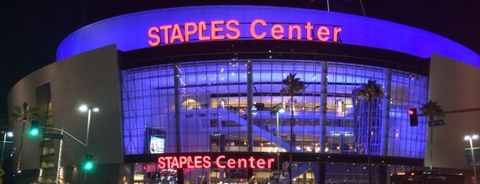 STAPLES Center is one of must today check ins.