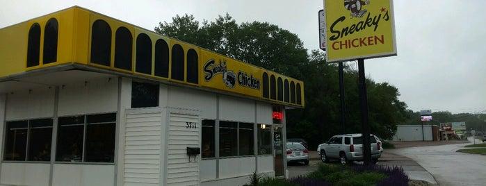 Sneaky's Chicken is one of Tempat yang Disimpan Evan[Bu].